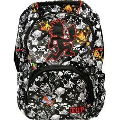 Insane Clown Posse - Back Packs. Large Running Hatchetman Guy & Allover Lp Cover Art Let People Know What Band Really Does Rule With Your Very Own Backpack. Nylon Lining With Embroidery Design Will Stand Out In Any Crowd. Great For School, Camping, Or Just Carring All Your Gear.