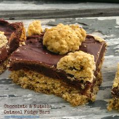Gluten-Free Chocolate & Nutella Oatmeal Fudge Bars – The Baking ChocolaTess