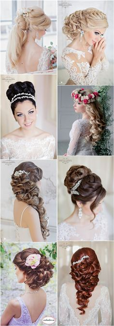 Top 25 Stylish Bridal Wedding Hairstyles for Long Hair / http://www.deerpearlflowers.com/top-25-styleish-bridal-wedding-hairstyles-for-long-hair/