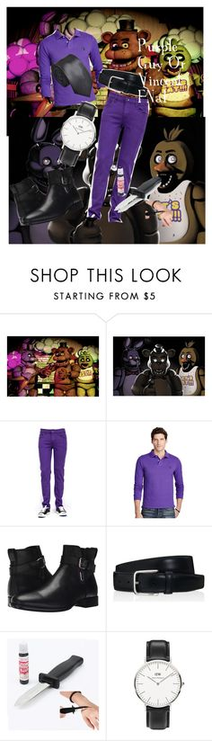 """Purple Guy Or Vincent FNaF"" by adelle-louise-istead on Polyvore featuring Freddy, Ralph Lauren, Aquatalia by Marvin K., Tod's, Daniel Wellington, men's fashion and menswear"