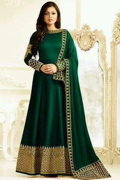 Indian Bollywood Party Heavy New Floral Salwar Pakistani Designer Anarkali Gown Indian Gowns, Indian Attire, Pakistani Dresses, Indian Wear, Indian Outfits, Designer Anarkali, Anarkali Gown, Bridal Anarkali Suits, Long Anarkali