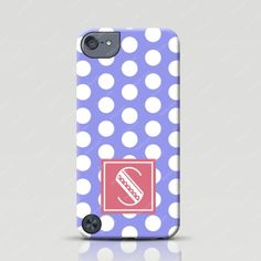 Customized iPod Touch 5g Case - Polka Dots in Purple - Froolu