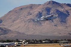 Endeavour flyover of Mojave Spaceport, toward Tehachapi, 9/21/2012