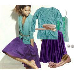 trying my aqua shirt over my purple dress when i get home!
