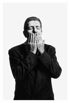 "Léonard Cohen, Paris 1994 by Claude Gassian. Print displayed at the exibition on Leonard Cohen : ""Bird on a wire"" until May Leonard Cohen, Adam Cohen, Disney Marvel, Visions Of Johanna, Blood And Bone, Idole, September 21, Artist Life, Bob Dylan"