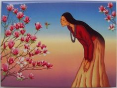 """R.C. Gorman Tulip Tree Ceramic Art Tile Southwest Gift Idea 6x8 by SStone. $18.99. High Quality. Southwestern. Decorative. Colorful. Manufactured in the USA. This Beautiful, Collectible Ceramic Art Tile features work by the world famous R.C. Gorman. He is known as the """"Picasso of the Southwest"""". His work is known for its simplicity, and his colorful depiction of Navajo women, in particular. This one is titled """"Tulip Tree"""". This tile measures 6 inches by 8 inches..."""