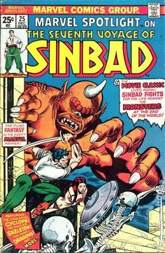 Marvel Bronze Age alterna-earth # 30: The Seventh Voyage of Sinbad (also home to Hercules, Jason, and other heroes thought to have been based on movies and myth.)