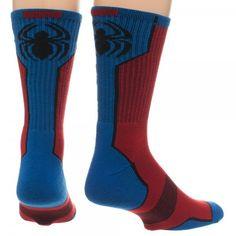 The Joy of Socks - Marvel Comics Spiderman Active Crew Socks (Men's), $10.55 (http://www.joyofsocks.com/marvel-comics-spiderman-active-crew-socks-mens/)