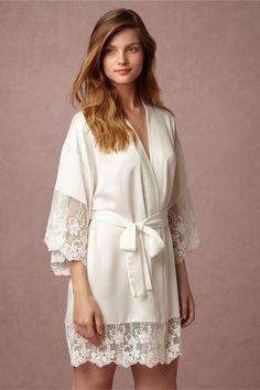 a4f247f2dd2 BHLDN Farrah Robe in Bride Bridal Lingerie at BHLDN Wedding Night Lingerie