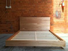 Tasmanian Oak floating bed.  Double $1700 Queen $1950 King $2250  Dimensions and materials such as bed height can be custom to suit your needs.