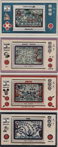 épinglé par ❃❀CM❁✿⊱Pocketsize Video Game & Watch - when i was a kid, i seriously would've killed to have one of these. Now, I'm glad my parents emphasized other ways of entertaining myself and having fun that didn't involve video games! My Childhood Memories, Childhood Toys, Best Memories, Vintage Video Games, Retro Video Games, Vintage Toys, Retro Vintage, Nostalgia, Game & Watch