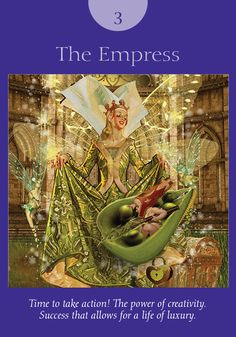 Oracle Card The Empress   Doreen Virtue   official Angel Therapy Web site