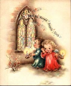 Hark the Herald Angels Sing... #vintage #Christmas #cards