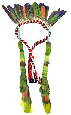 Lot 230: Amazon Tribal Feather Head Dress Jan 22, 2016