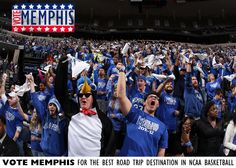 The Blue Crew student section boasts some of the nation's most rabid fans all cheering for their home blue & gray Vote Memphis for best destination trip in college basketball. Vote daily at https://www.facebook.com/BestofCollegeBasketball/app_480356182002700