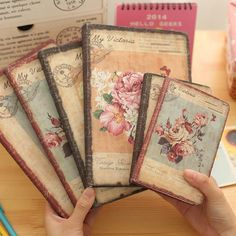 Vintage Notebook | Hardcover Notebook | Journal Sizes:      Small: 9x14cm      Large: 14x21cm Page Count: 96 Sheets/192 Pages