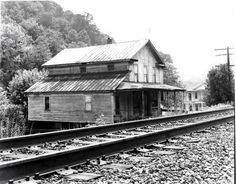 Railroad trackside structures, (reference photos for model railroads). Vintage photography.