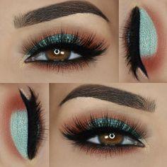 spring look on @paola.11 wearing Motives! . . . Eyeshadows: @nomadcosmetics 'Marrakesh' palette Liner: @motivescosmetics 'Little Black Dress' Lashes: @luxylash 'Eazy Duz It' . . .