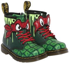 Dr.martens Ninja Turtles Printed Leather Boots