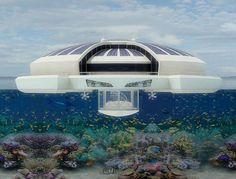 Proyecto de una isla resort flotante autosuficiente