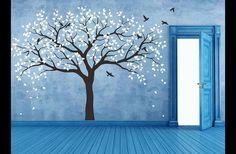 """***Spezialangebot***  ***zum Verkauf***  Baum Wandtattoo perfekt für Ihren Kindergarten oder Kinderzimmer!   Der ganze Baum approx.112"""" breit und 83"""" hoch(285cm breit by 210cm hoch) Die..."""