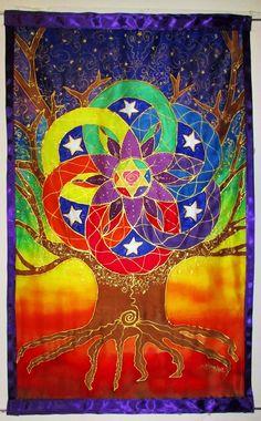 """Tree of life"" custom order by Heaven on Earth Silks"