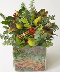 Flower-arranging: scented seasonal centrepiece