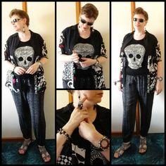 JDS - MY STYLE: Millers pants, Ice skull tank, Target shirt, @JewelDivas jewellery - details on the blog - http://jeweldivasstyle.com/my-style-marchs-style/