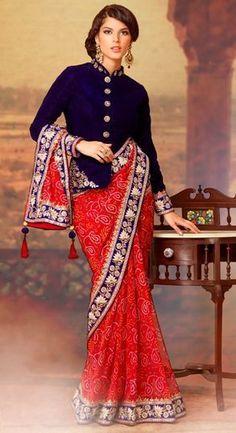Stunning Indian fashion - Meant for that winter wedding Bandhini Saree, Bandhani Dress, Indian Fashion, Womens Fashion, Western Dresses, Beautiful Saree, Pakistani Dresses, Fashion Stylist, Indian Wear