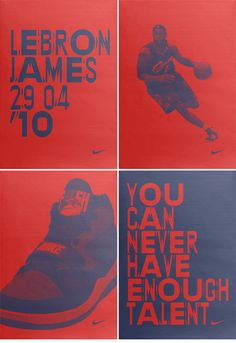 """Nike poster series - poster set """"lebron james"""" - designed by hort. Design Nike Shoes, Reebok, Air Max Essential, Nike Poster, Air Max Classic, Sports Graphic Design, Sport Design, Nike Air Max 2012, Nike Ad"""