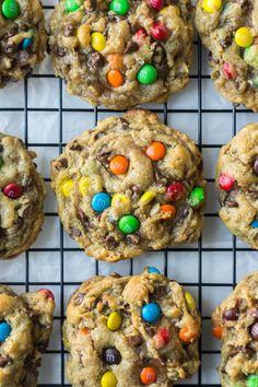 Flourless monster cookies are gooey and chewy and chocolatey! These amazing and easy to make flourless monster cookies are filled with flavorful and colorful ingredients and have a chewy texture without any flour. These are so simple to make gluten free too.