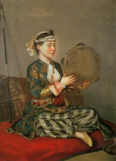 Turkish Woman with a Tambourine