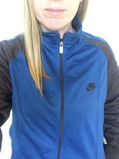 8422e71e18c Details about Vintage 90s Nike Track Jacket Men s M Blue Brown