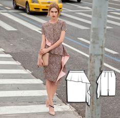 Ruffle Pencil Skirt 08/2015 #119 http://www.burdastyle.com/pattern_store/patterns/ruffle-pencil-skirt-082015?utm_source=burdastyle.com&utm_medium=referral&utm_campaign=bs-tta-bl-150720-CitySafariCollection119