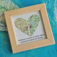Gay Wedding Gift for Couple Map Heart Framed with Text is part of crafts Gifts Long Distance weddinggiftforcouplemapheartframed This backing for the heart is post consumer content recycled whit - Wedding Gifts For Bride And Groom, Wedding Gifts For Parents, Best Wedding Gifts, Trendy Wedding, Long Distance Relationship Gifts, Long Distance Gifts, Long Distance Wedding, Long Distance Love, Gifts For Brother