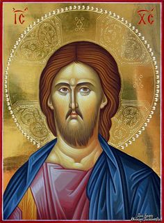 by George Papadopoulos Christ Pantocrator, Byzantine Icons, Orthodox Christianity, Religious Icons, Orthodox Icons, Jesus Christ, Drawings, Holy Quotes, Movie Posters