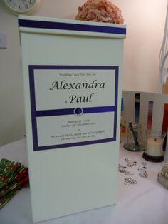 Purple and Ivory Wedding Card Post Box