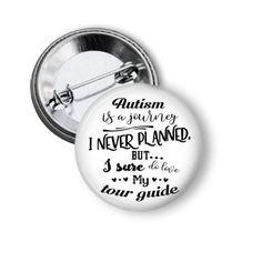 Autism Journey Autistic Button World Autism Day Autism