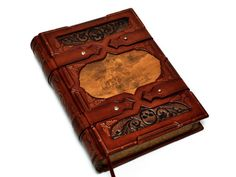 Large leather journal Miner's silver ghost with 640 by dragosh, $595.00