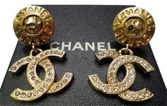 Get the lowest price on Super Chic Authentic CHANEL Large Crystal CC Dangle Vintage Earrings and other fabulous designer clothing and accessories! Shop Tradesy now Chanel Earrings, Clip On Earrings, Large Crystals, Swarovski Crystals, Golden Nugget, Chanel Designer, Vintage Chanel, Designer Earrings, Vintage Earrings