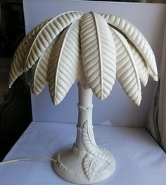 Rare one of a kind MCM Hollywood Regency Sirmos Serge Roche Palm Tree Lamp Italy