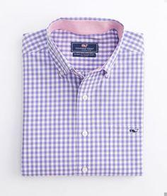 Seascape Gingham Tucker Shirt