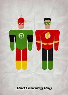 """""""Bad Laundry Day"""" Superheroes get costumes mixed up."""