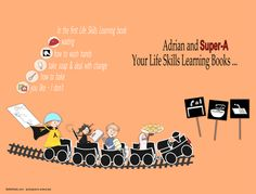 ADHD & Autism Books || Adrian & Super-A. Adorable and educational Life Skills Learning books with fun workbooks.