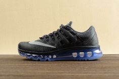 separation shoes 2a771 25679 Nike Air Max 2016 Women Men Mesh Blue Black