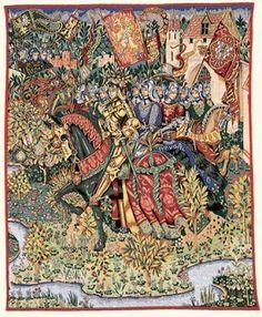 Le Roi Arthur King Arthur - Medieval Wall Tapestry - Pansu