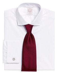 Golden Fleece Sea Island Cotton Slim Fit French Cuff Dress Shirt #brooksbrothers