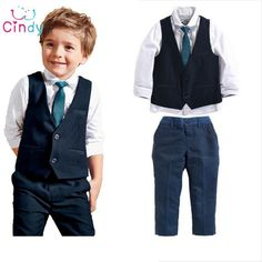 3pieces Clothing Sets Formal Outfits For BoysDressy OutfitsKids Wedding SuitsWedding Outfit