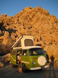 #Campervan in Southern #California - The perfect #RoadTrip #Car. #Volkswagen #Bus #Travel #CrossCountry #Wanderlust