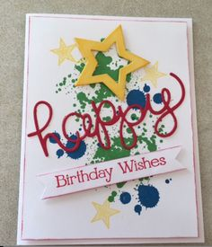 Pals Paper Crafting Card Ideas birthday card Mary Fish Stampin Pretty StampinUp